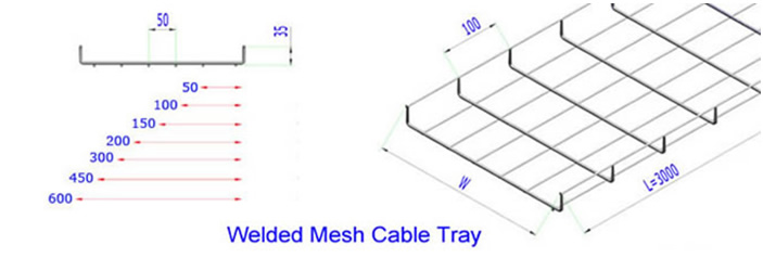Cable tray also named wire mesh cable tray,basket cable tray,basket tray